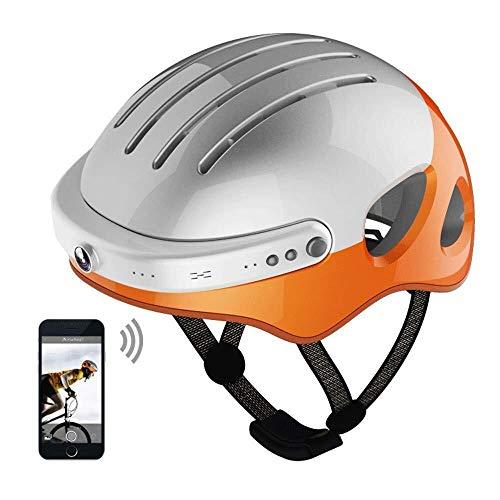 KHFFH Helm, Smart-fietshelm, handsfree bluetooth, met camera aan de voorkant en bluetooth-luidsprekers voor fietsen, installatie, avontuur, skateboarden, motorfietsen