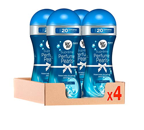 Vernel Supreme Pearls Potenciador de perfume para la ropa Fresh Joy – Pack de 4, Total: 1040 gr