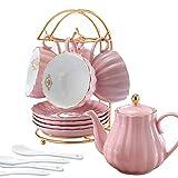 Juego de té y café de porcelana LIERAS con cucharillas de té y...