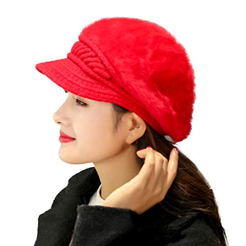 JUTOO Women Winter Warm Cap Gestrickt Hat Beret Baggy Beanie Hat Slouch Ski Cap