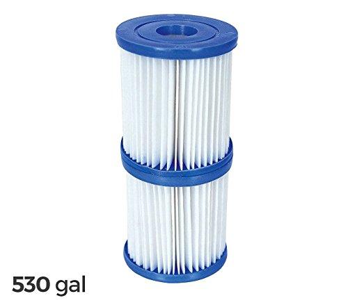 58094 Kit de 2 filtros de repuesto Bestway 2006/3028 de 530 galones