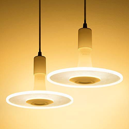 Linkind 2er Pack Sternwolk LED Pendel Leuchte Set, 11W Lampebirne(Kabel-Fassung inkl.) 1100lm warmweiß Hängende Beleuchtung, Geeignet für E27 Fassung, ideal Designerlampe für Küche