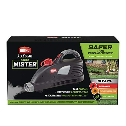 Ortho AllClear Power Mister - Rechargeable Battery-Powered Lawn and Garden Sprayer, No Propane, Sprays up to 15 ft. and Covers up to 20,000 sq. ft. Per Charge