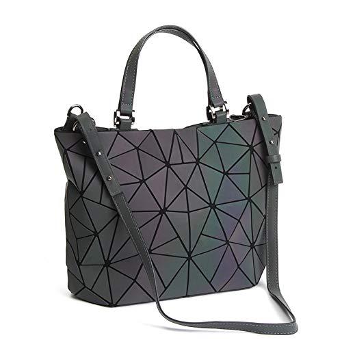 Geometrische leuchtende Geldbörsen und Handtaschen, holografisch, reflektierend, Umhängetasche, Regenbogen-Tragetasche, Schwarz (Nr.1), Einheitsgröße