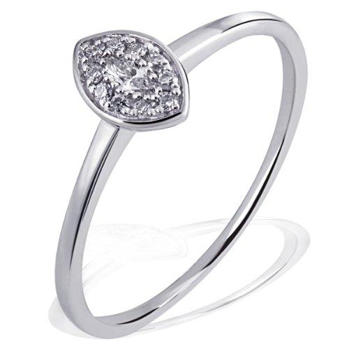 Goldmaid Damen-Ring 14 Karat (585) Weißgold Diamant Gr.54 (17.2) Pa R6579WG54 Verlobungsring  Diamantring