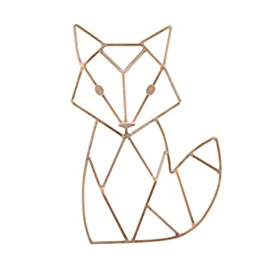 NoJo Fox Shaped Wire Nursery Wall Decor, Finish, Copper (3097961P)