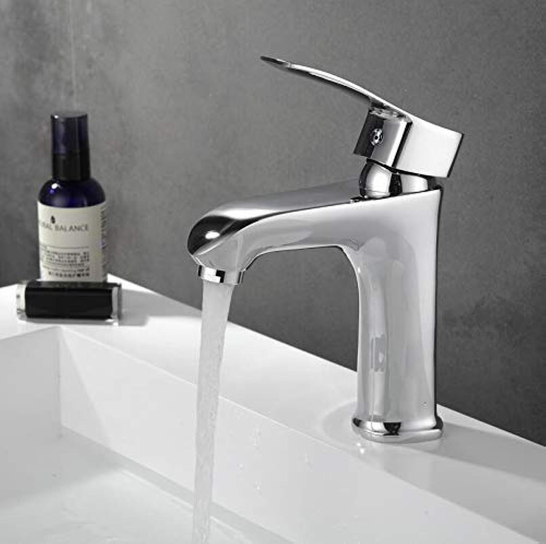 Oudan Bathroom Basin Faucet Deck Mounted Chrome Single Handle Ceramic Brass Contemporary Mixer Tap Xt503 (color   -, Size   -)