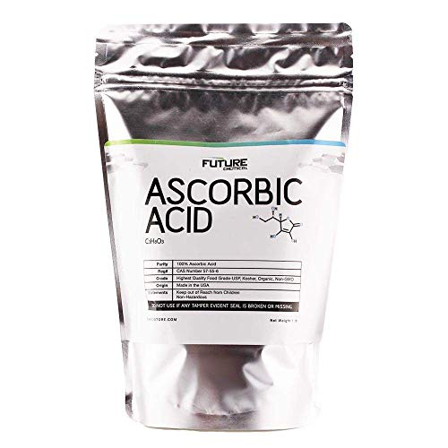 Ascorbic Acid (Vitamin C) 1 lb. Immune Support & Antioxidant Supplement. No Fillers. Fine Crystals. Organic. No GMO
