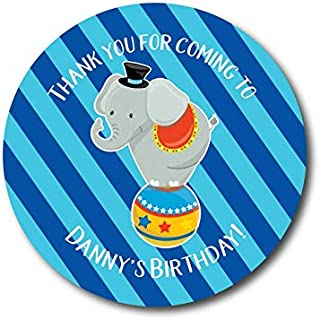 VinMea Circus Birthday Stickers Circus Party Elephant Stickers Birthday Party Favor Stickers Circus Labels Popcorn Favor Labels Cotton Candy Labels 2