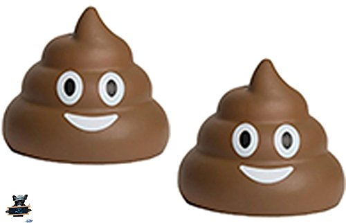 2 Poop Emojis Stress Balls - Nothing a little poo can't make...