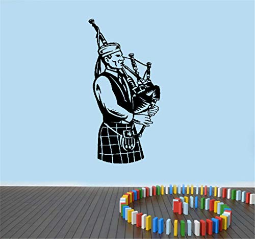 pegatina de pared pegatina de pared 3d Gaitero escocés músico nacional irlandés gaitas