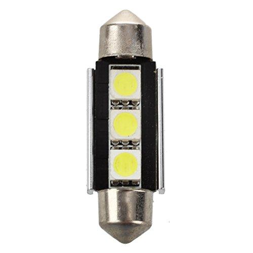 Cikuso 2X SMD LED feston 39 mm CANBUS C5W 12V 3 Potencia SMD Placa de matricula y luz de Lectura - para BMW Serie 3 Serie 5 Serie 7 E34 E36 E38 E39 E46 E60 E90, Blanco