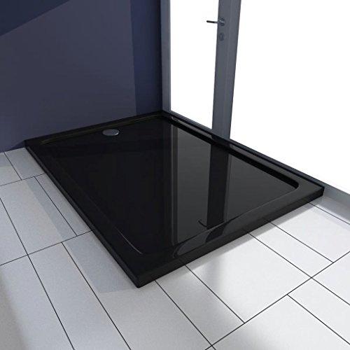 Geniet van winkelen met Douchebak rechthoekig 80x110 cm ABS zwart