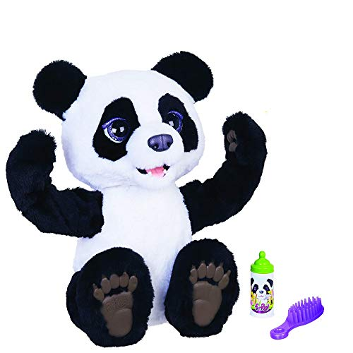 furReal Plum, the Curious Panda Cub Interactive Plush Toy, Ages 4 and Up
