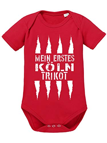 clothinx Mein erstes Köln Trikot Baby-Body Bio Rot Gr. 68