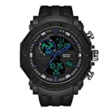 SDEWQ Relojes Hombre, Reloj Militar Deportivos Digital Relojes de Pulsera LED Impermeables con Alarma/Cuenta Regresiva/Cronómetro / 12/24H para Hombre