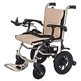 WLD Silla de ruedas eléctrica Plegable 16 kg ligero, ancho de asiento 45 cm, silla de movilidad de batería de litio extraíble, sillas de ruedas motorizadas, barandilla ajustable 6 archivos df