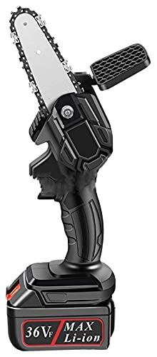 YYAI-HHJU Mini Sierra De Cadena para Cortar Madera, Motosierra Inalámbrica con Batería De Iones De Litio, Potente Sierra Recargable con Sistema De Afilado Automático Power Sharp Mini Motosierr