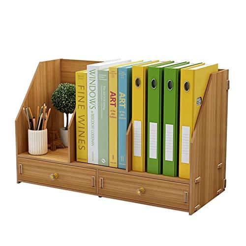 Bookcases Bookshelf Presentar Estante, Sencilla Tabla de estantería de Madera Información Estante de la Mesa de Almacenamiento en Rack Oficina Creative Multi-Capa Librerías Estantería
