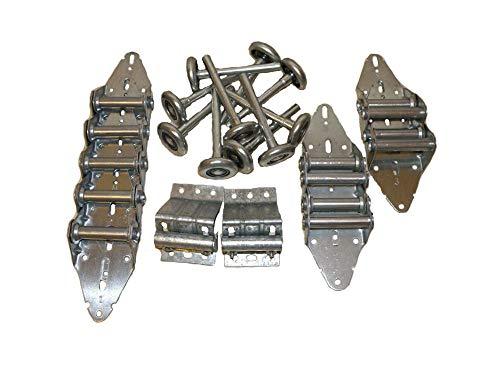 Heavy Duty Garage Door Hinge & Roller Tune Up Kit for 8x7 or 9x7 w/Steel Rollers