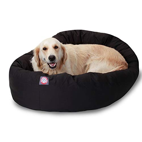 40 inch Black Bagel Dog Bed By Majestic Pet Products