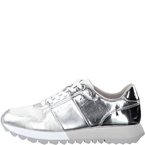 s.Oliver Damen 5-5-23662-24 Sneaker, Silber (Silver Comb 913), 37