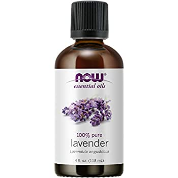 NOW Essential Oils Lavender Oil Soothing Aromatherapy Scent Steam Distilled 100% Pure Vegan Child Resistant Cap 4-Ounce