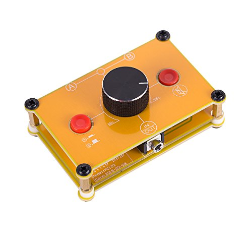 Nobsound Little Bear MC102 Mini 2(1)-IN-1(2)-Out 3.5mm Stereo Audio Switcher Passive Selector Splitter Box Audio-Schalter Stereo Umschalter Passive Selektor (Yellow)