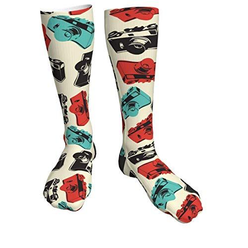 Jard-Baby Unisex Socken mit Kamera-Motiv, atmungsaktiv, modisch, Quarter-Socken, Laufsocken, Sportsocken für Reisen