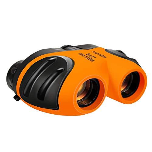 Binoculars for Kids, Compact Binoculars for Age 4-8 Boys Girls Gifts Toys for 3--12 Year Old Girls Boys Stocking Stuffers Orange