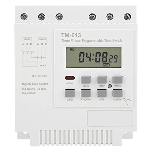 ODOUKEY-J2 Interruptor Temporizador programable semanal trifásico de 380V TM-613 El Controlador Digital Power Off