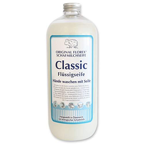 Florex Recharge de savon liquide au lait de mouton pour laver les mains avec du savon 1 l