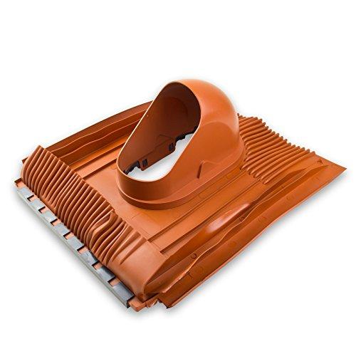 Klöber Venduct Grundplatte Dachdurchführung DN 100 mm Universal Dachentlüftung Rot Orange Strangentlüftung Lüftungsziegel Dachbelüftung