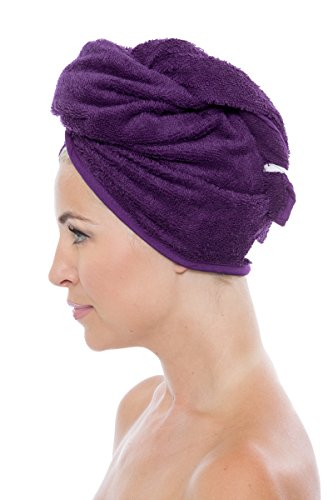 Women's Bamboo Hair Towel Wrap - Luxury Bath Gift by Texere (Arethusa, 2-Pack, Lavender Fog/Purple, Unisize) Soft Bamboo Spa Head Wrap Present for Ladies TX-AB011-001-4213-R-U