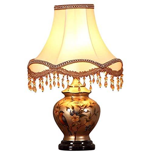 CZWYF Lampe en céramique Chambre Lampe de Chevet Rétro Salon étude Lampe décorative Lampe de Bureau Kaki