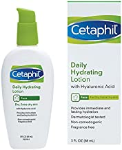 Cetaphil Daily Hydrating Lotion with Hyaluronic Acid, Basic , 3.0 Fluid Ounce