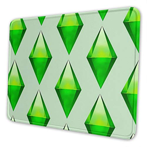 The Sims Plumbob Mousepad Non-Slip Rubber Gaming Mouse Pad Rectangle Mouse Pads for Computers Laptop (10X12 Inch)