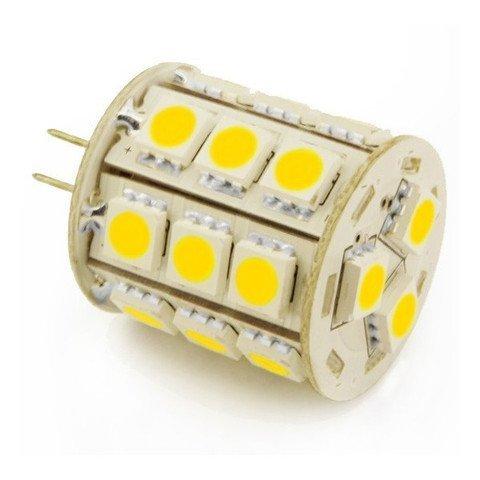 Gu4 G4 Bi Pin 5050 - Bombilla LED de repuesto para lámparas halógenas JC y otros sistemas de iluminación de 12 V 24 V 8 V 30 V bombillas LED CA CC 12 V a 24 V, haz de ángulo de 360 grados, blanco frío