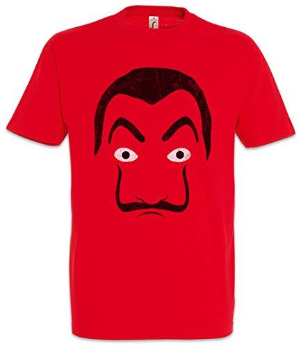 Urban Backwoods Dali Mask Hommes T-Shirt Rouge Taille M