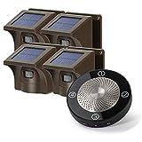 1/4 Mile Long Range Rechargable Solar Driveway Alarm Wireless Sensor System Driveway Sensor Alert System Weatherproof Security Outdoor Motion Sensor & Detector No Need Replace Batteries