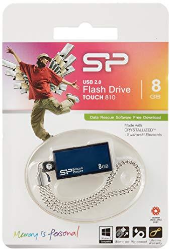 Silicon Power Touch 810 - Memoria USB (Azul, USB 2.0, 0-70 °C, -40-85 °C, Windows Vista, Windows 98, Windows 2000, Win ME, Win XP - Mac OS 9.0 - Linux 2.4.0, RoHS)