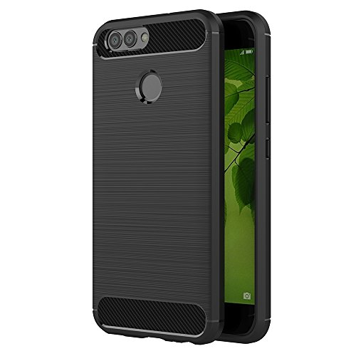 AICEK Huawei Nova 2 Hülle, Schwarz Silikon Handyhülle für Huawei Nova 2 Schutzhülle Karbon Optik Soft Hülle (5,0 Zoll)