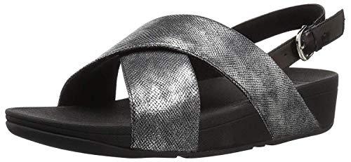 Fitflop Lulu Cross Back-Strap Sandals Shimmer, Femme, Noir (Black Print 547), 41 EU