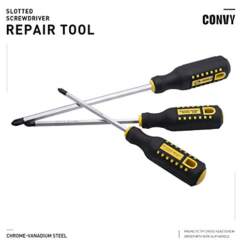 Convy GJ-0115 Phillips Screwdriver Cross Head Screwdriver with Non-Slip Rubber Handle, PH 5100