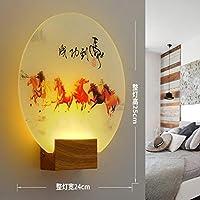 現代のロマンチックな平野染め燭台屋内壁Ledアクリル壁掛け壁ランプリビングルームキッチンベッドサイド暖かい光6
