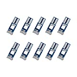 T5 LED Bulb Dashboard Dash Lights Green 3030 SMD Wedge Base for Car Truck Instrument Indicator Air Conditioning AC Lamp Auto Interior Accessories Kit Bright 12V 1W Pack of 10【1797】