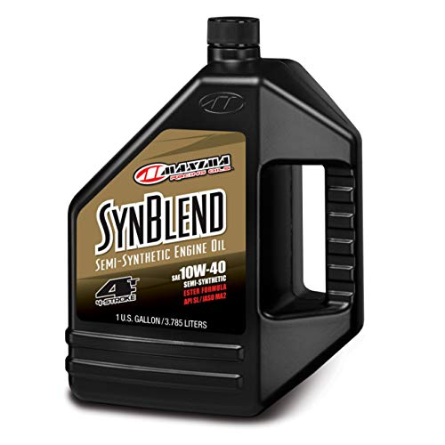 Maxima (349128B Syn Blend4 10W-40 Motorcycle Engine Oil - 1 Gallon