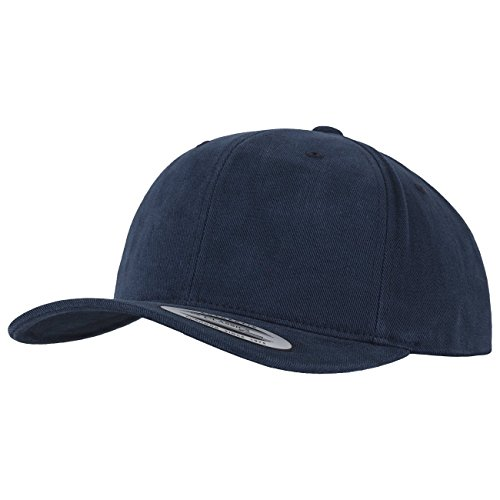 Flexfit Brushed Cotton Twill Mid-Profile Kappen, Navy, one Size