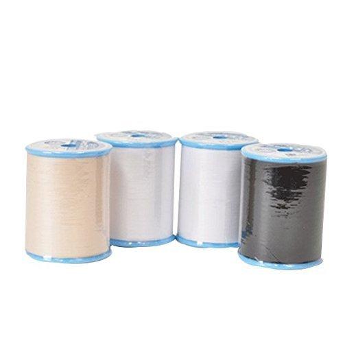 徳用シャッペスパン ミシン糸 700m 60番手 黒 402 x1個 生成り 403 x1個 白 401 x2個 計4個セット