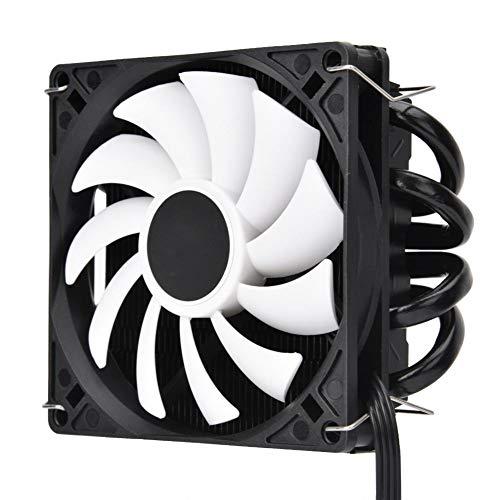 Hyuduo1 Ventilador de refrigeración de CPU, IS-40 Ventilador de radiador de CPU Ultrafino silencioso, Tubo de Calor AM4 Ventilador de radiador de PC de presión descendente ITX